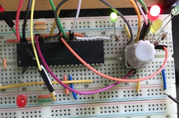 Encoder Test on Breadboard